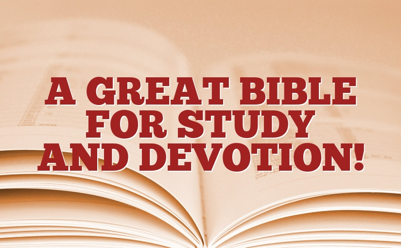 A Great Bible for Study and Devotion!