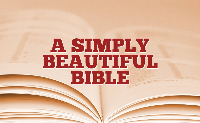 A Simply Beautiful Bible